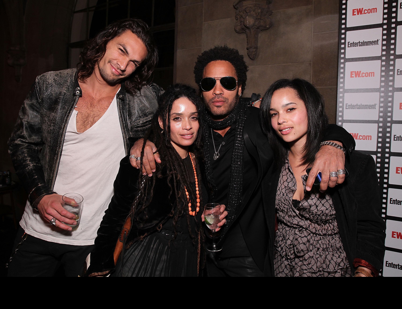 Jason Momoa Gives Lenny Kravitz Matching Skull Ring In Display Of Blended-Family