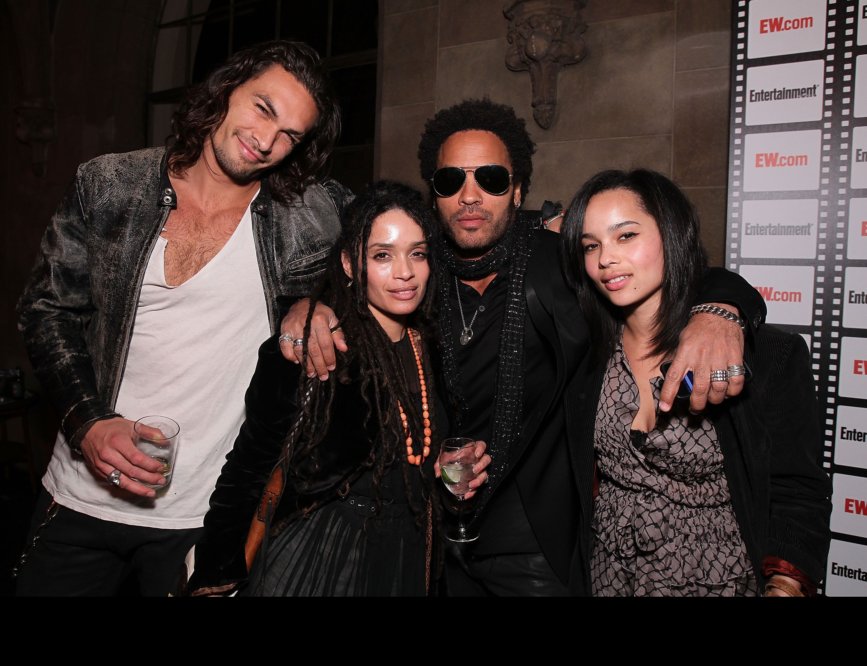 LOS ANGELES, CA - FEBRUARY 25:  Jason Momoa, Lisa Bonet, Lenny Kravitz and Zoe Kravitz  at Entertainment Weekly's Party to  Celebrate the Best Director Oscar Nominees held at Chateau Marmont on February 25, 2010 in Los Angeles, California.  (Photo by Alexandra Wyman/WireImage)