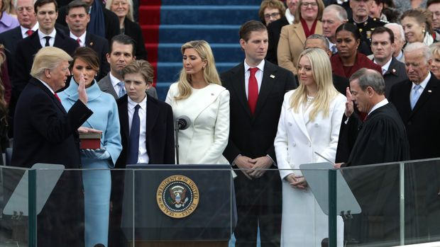 Donald J. Trump becomes the 45th president of the United States on January 20, 2017/Getty Images