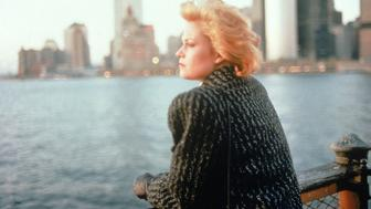 "Tess (Melanie Griffith) on the Staten Island Ferry in Mike Nichols' ""Working Girl"" (1988)."