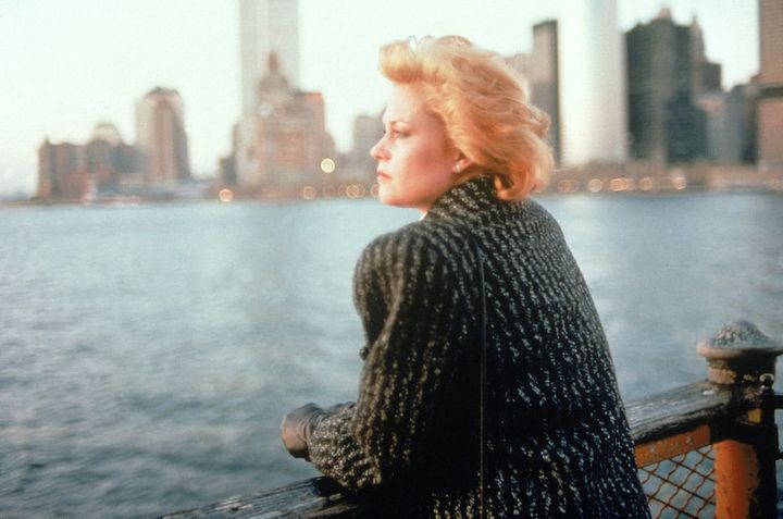 "Tess (Melanie Griffith) on the Staten Island Ferry in Mike Nichols' ""Working Girl."""