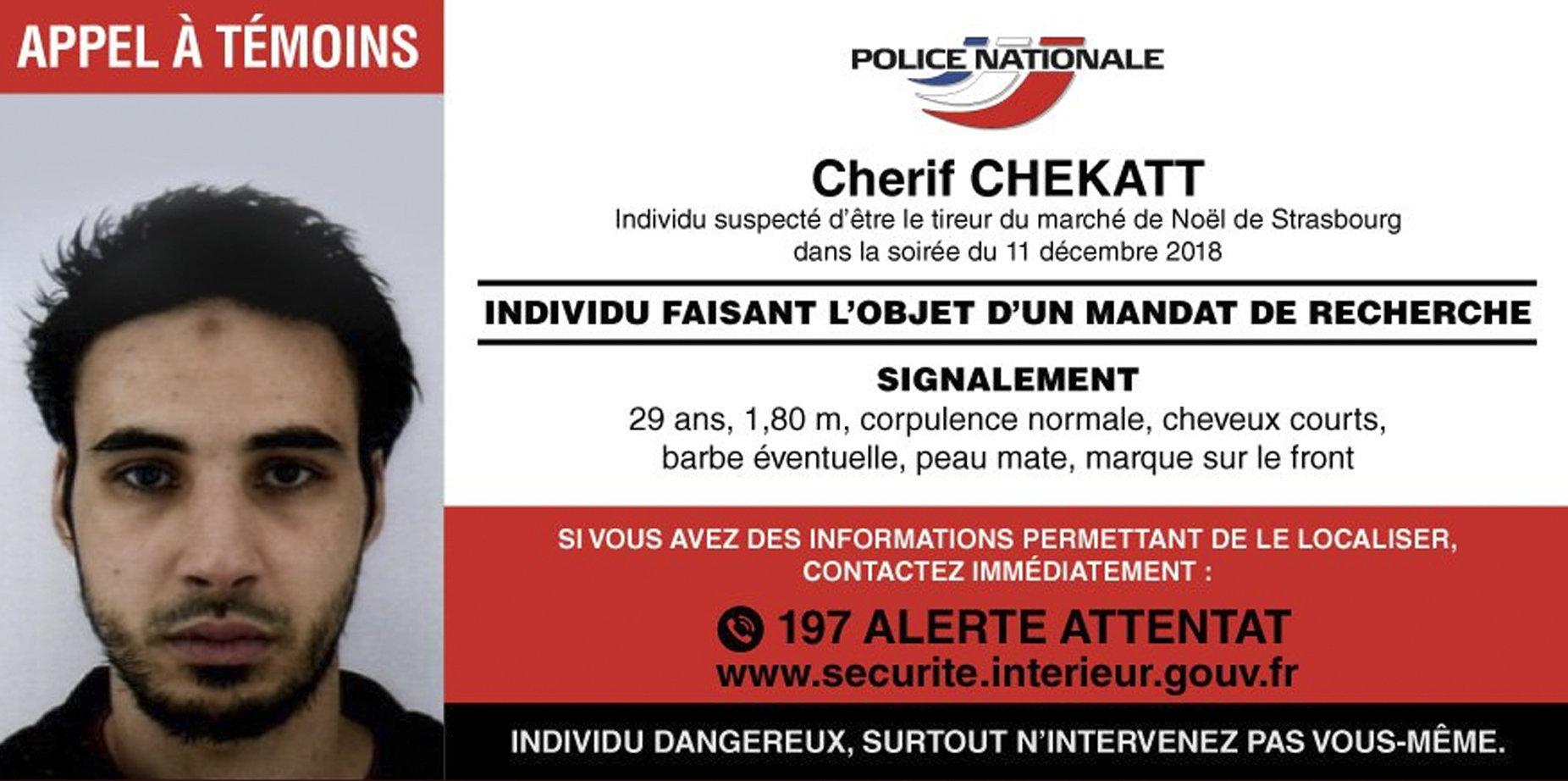 프랑스 스트라스부르 테러 용의자가 경찰에