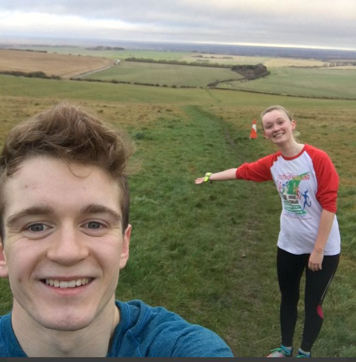Alex Mills with his friend Sophie.