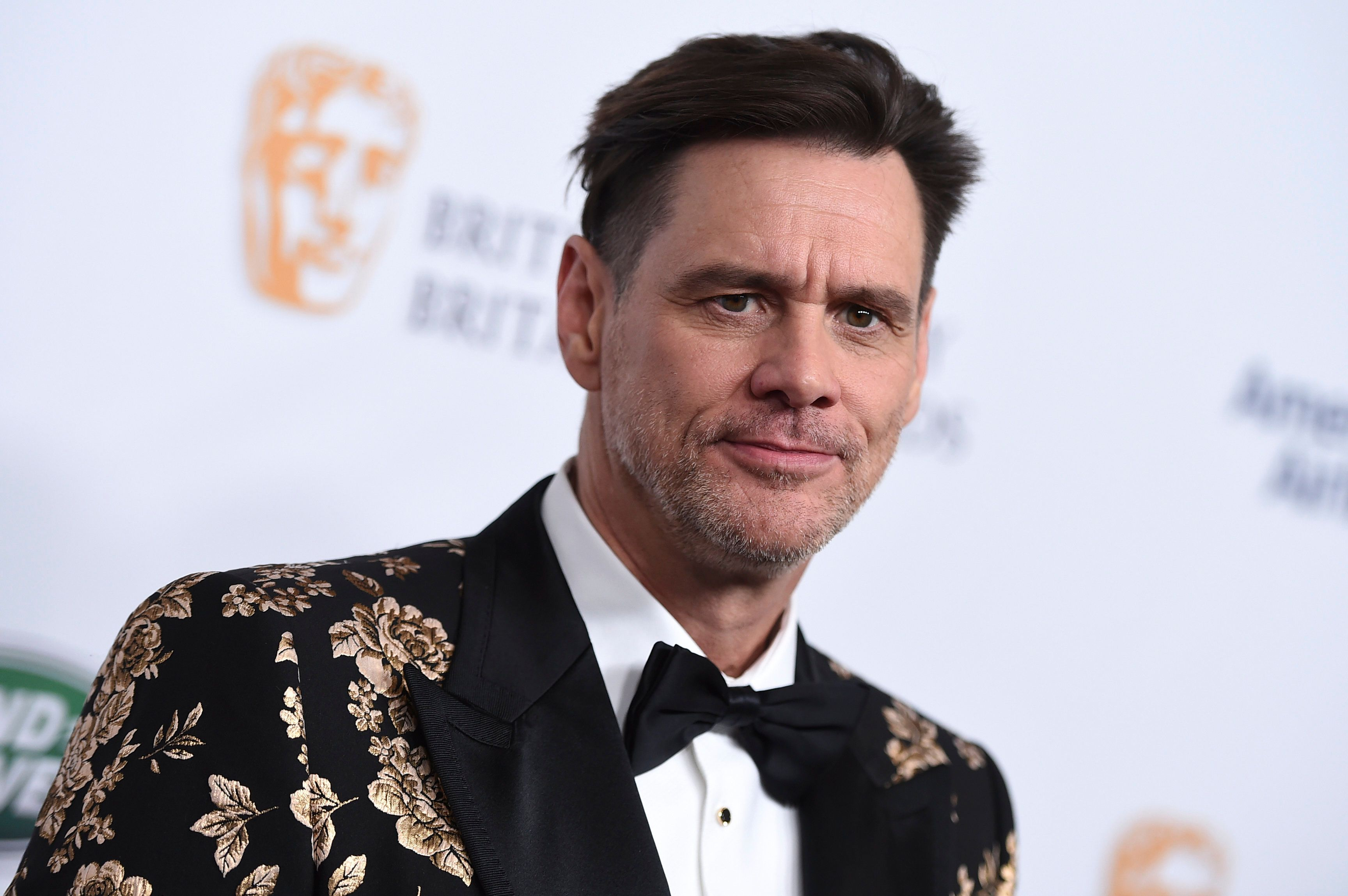 Jim Carrey arrives at the 2018 BAFTA Los Angeles Britannia Awards at the Beverly Hilton on Friday, Oct. 26, 2018 in Beverly Hills, Calif. (Photo by Jordan Strauss/Invision/AP)