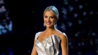 Miss USA Sarah Rose Summers participates in the swimsuit and evening gown stage of the 67th Miss Universe competition in Bangkok, Thailand, Thursday, Dec. 13, 2018.(AP Photo/Gemunu Amarasinghe)
