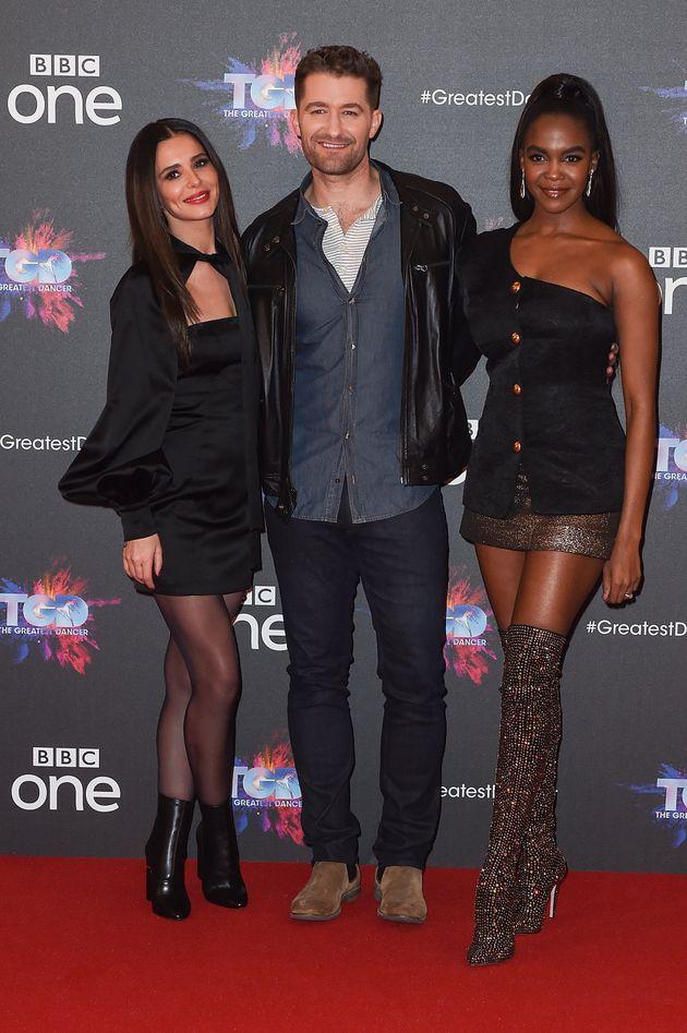 Cheryl with fellow dance captains Matthew Morrison and Oti