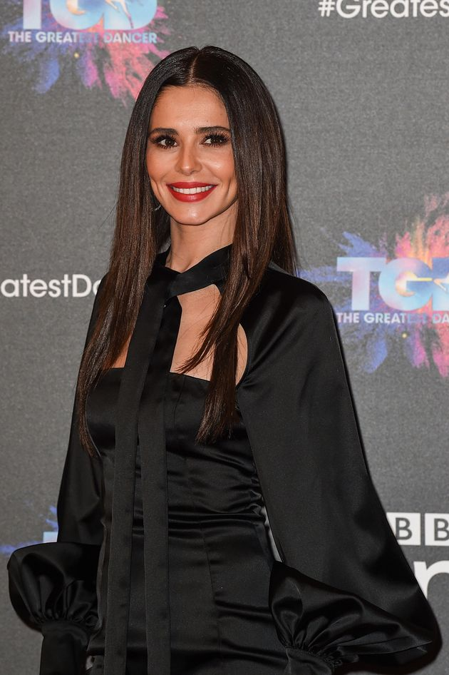 Cheryl at the press launch of 'The Greatest