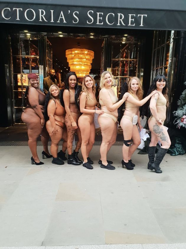 These Women Posed 'Nude' In The Middle Of London To Make A Point About Victoria's