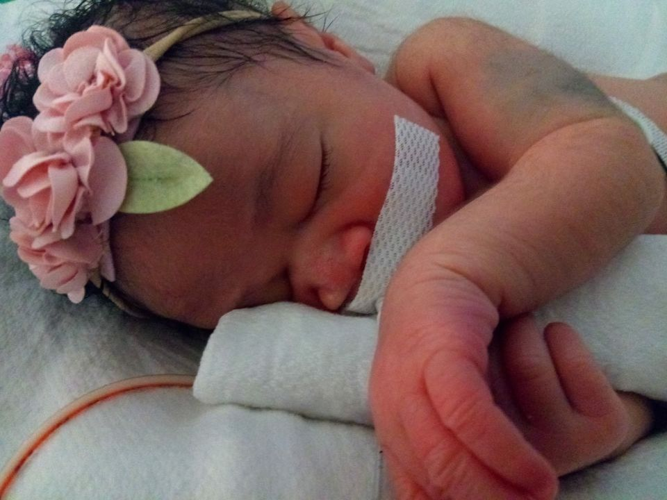 Baby Delashon was delivered via an emergency C-section after her mother was fatally