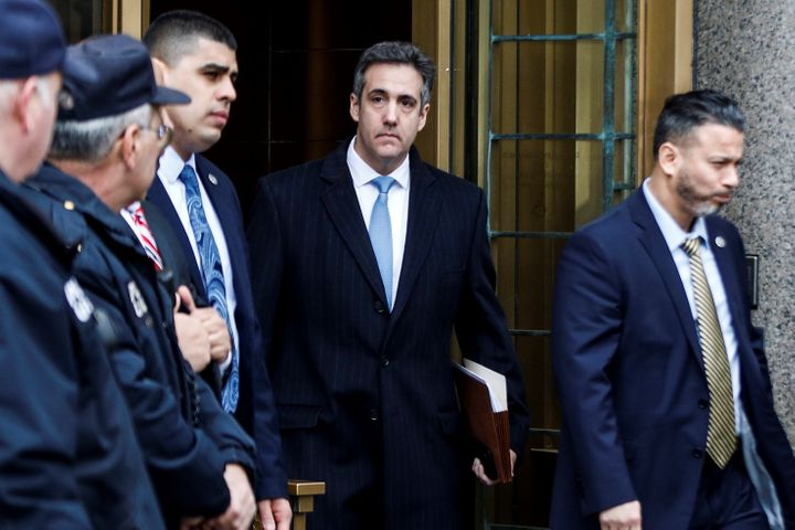 Michael Cohen leaves court after his sentencing on Dec. 12, 2018. He will spend three years in prison.