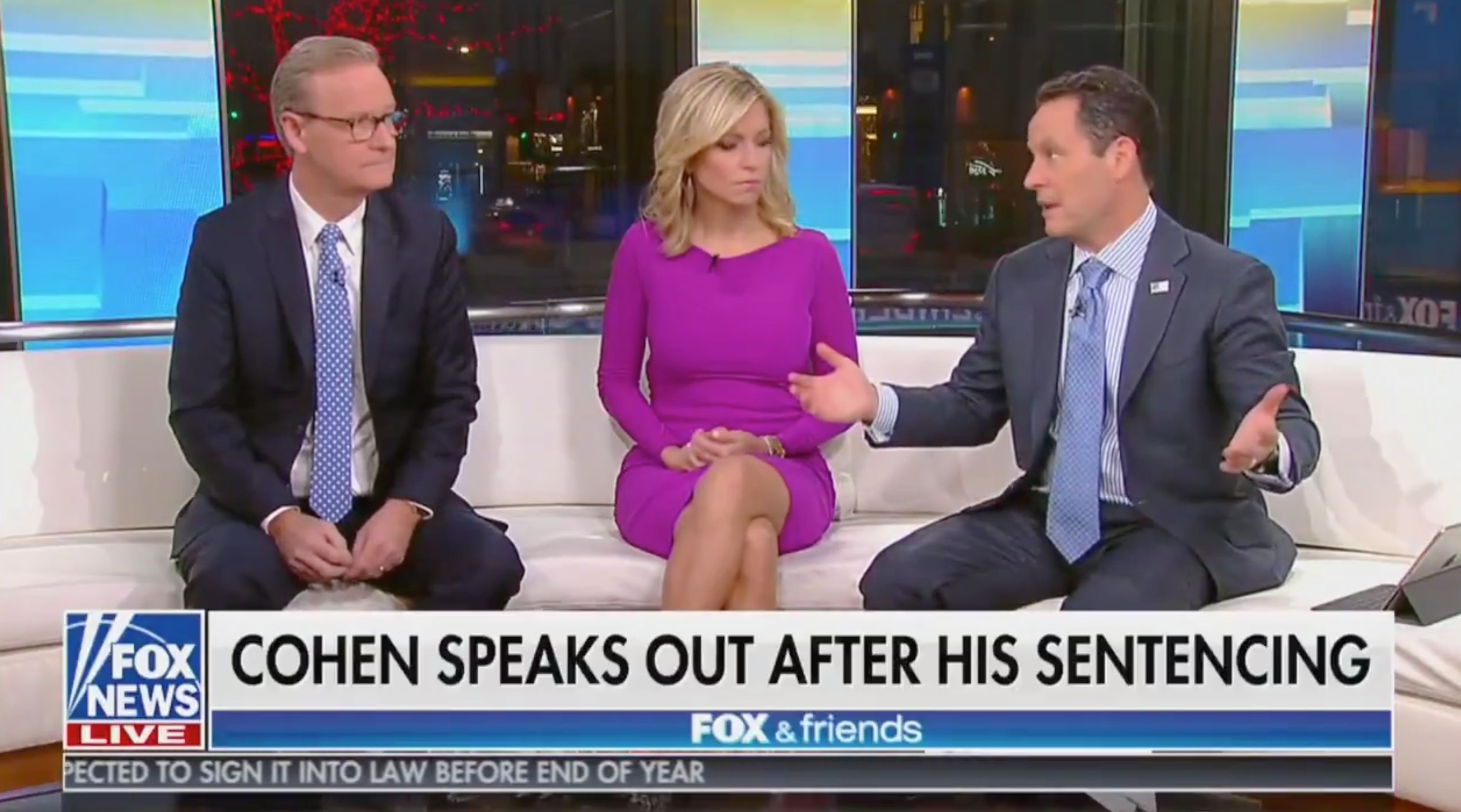 "Fox & Friends go after Michael Cohen, calling his recent cooperation with Mueller investigation ""disloyal"" to his former client President Trump."