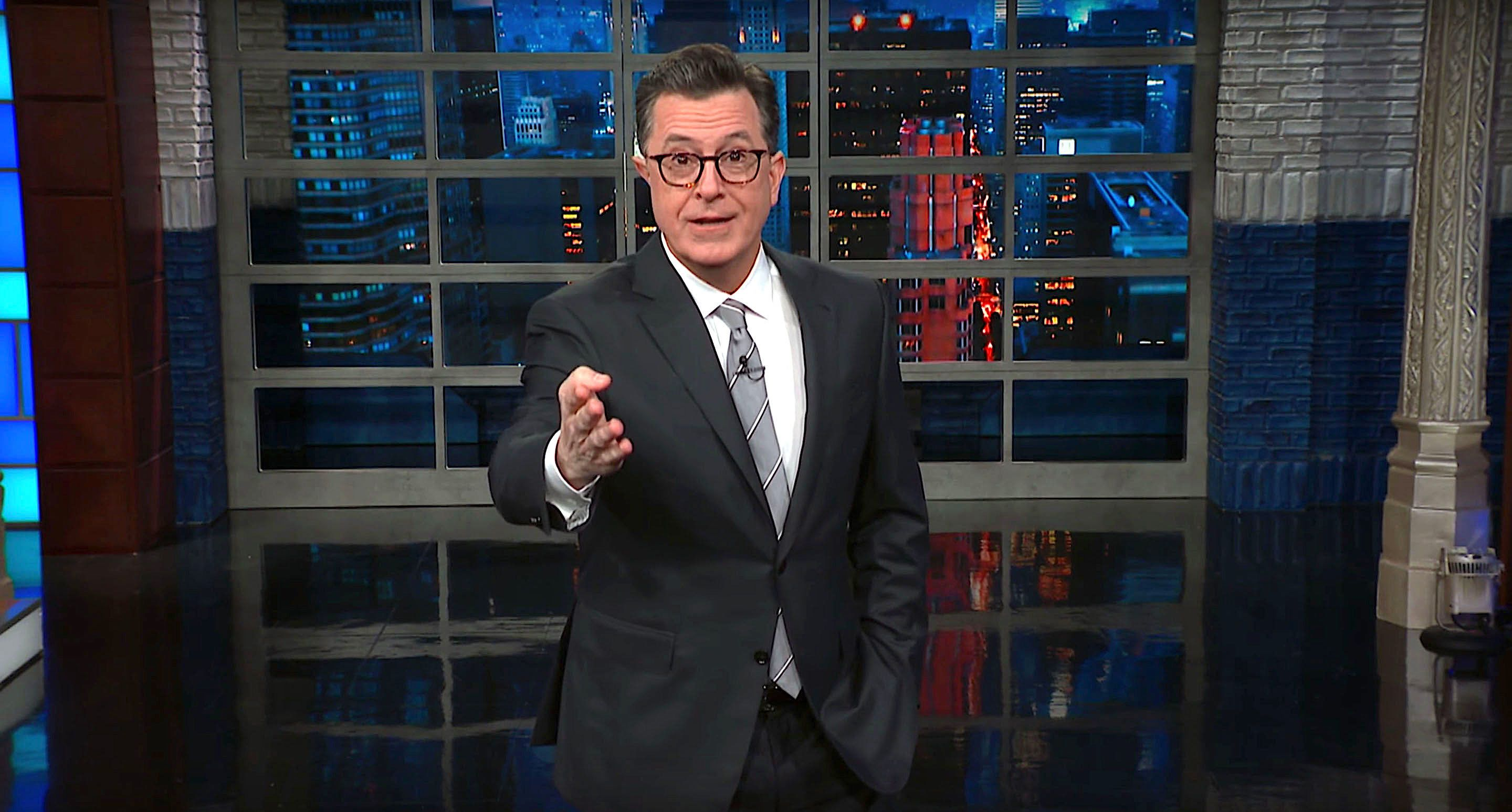 "Stephen Colbert of ""The Late Show"" talks about the cancellation of the White House Christmas party for the press."