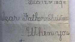 Weihnachten: Mann entdeckt 120 Jahre alten Wunschzettel, der ihm die Augen