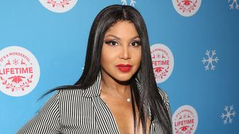 "LOS ANGELES, CALIFORNIA - NOVEMBER 14: Toni Braxton attends the VIP opening night of the life-sized gingerbread house in celebration of ""It's A Wonderful Lifetime' at The Grove on November 14, 2018 in Los Angeles, California. (Photo by Jesse Grant/Getty Images for Lifetime )"
