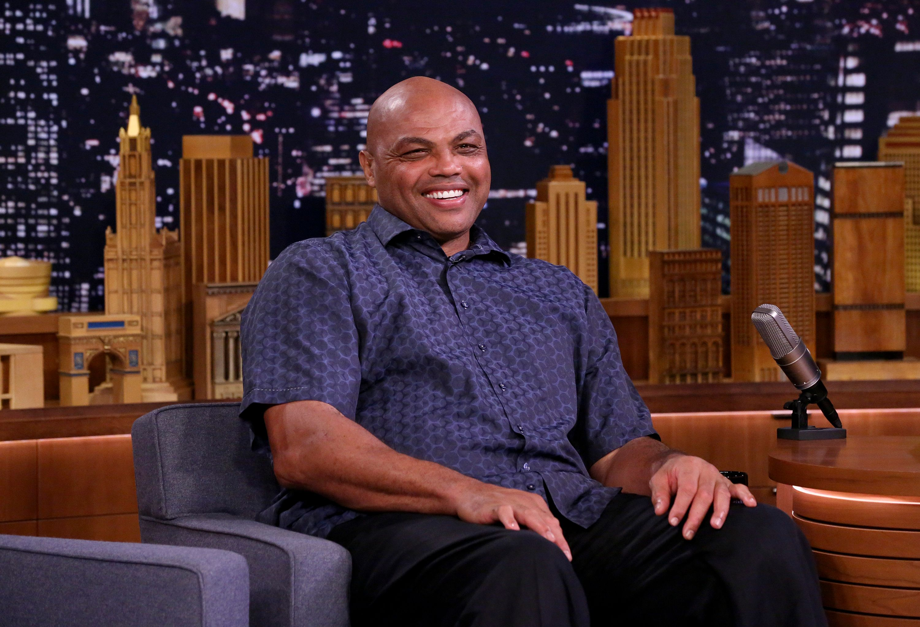 THE TONIGHT SHOW STARRING JIMMY FALLON -- Episode 0943 -- Pictured: Charles Barkley during an interview on October 11, 2018 -- (Photo by: Andrew Lipovsky/NBC/NBCU Photo Bank via Getty Images)