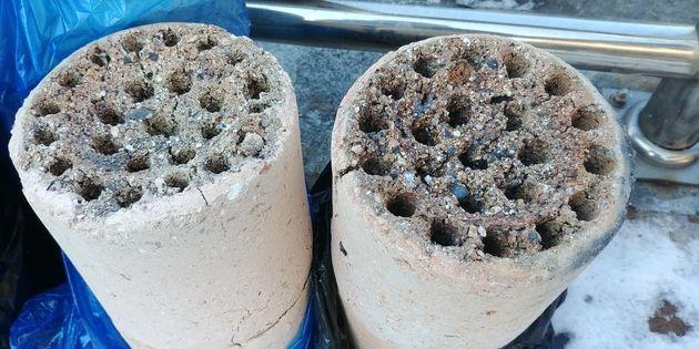 제천에서는 연탄재로 시멘트를