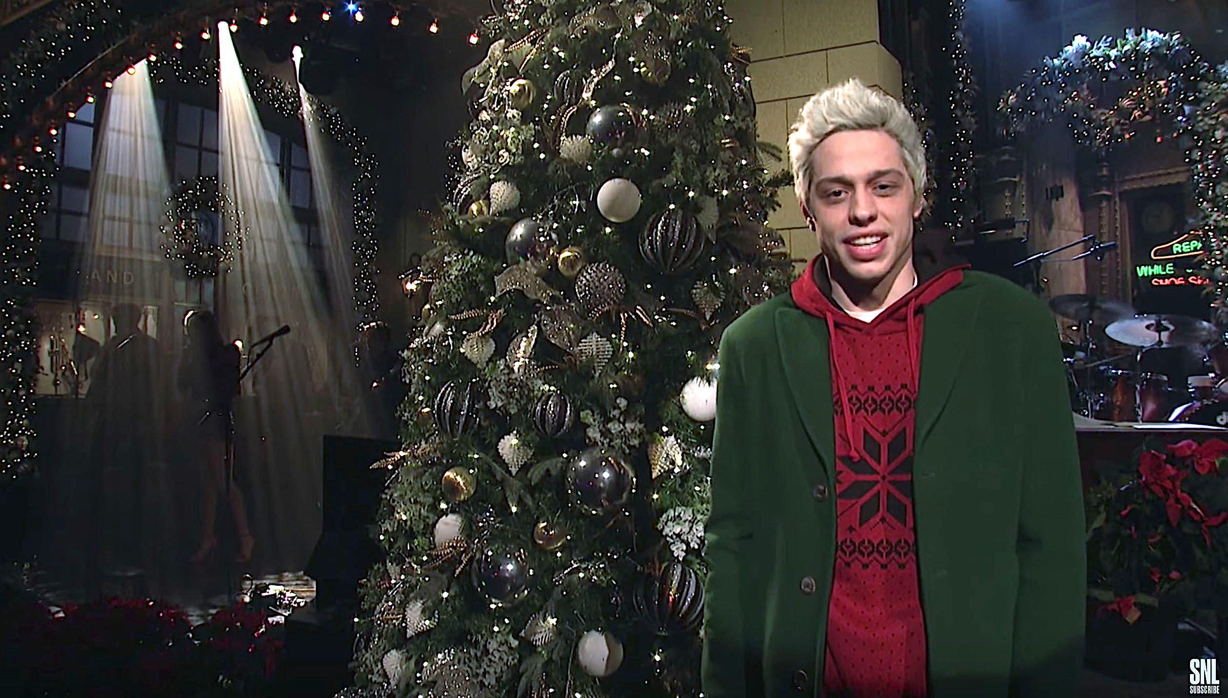"Pete Davidson on ""Saturday Night Live"" on December 15, 2018."