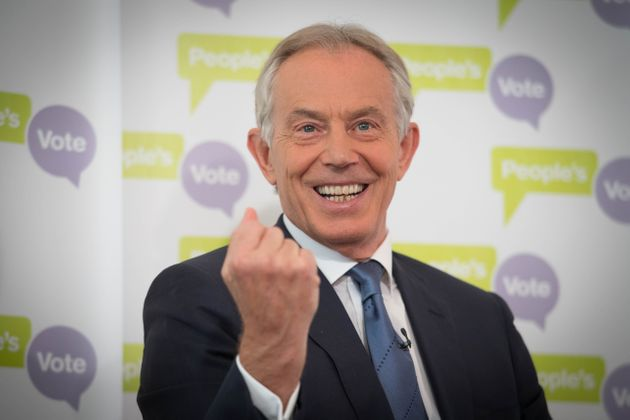 Theresa May has hit out at Tony Blair, who has been calling for her to back a second