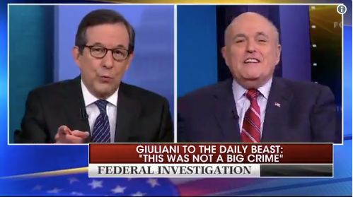 Fox News' Chris Wallace Tears Into Rudy Giuliani: 'I'm Asking You For The