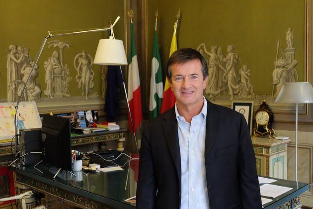 Giorgio Gori, Bürgermeister von Bergamo, in seinem Büro.