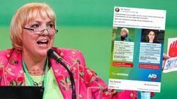 AfD postet absurde Infos zu Claudia Roth und zeigt damit, dass der Partei die Gegenargumente