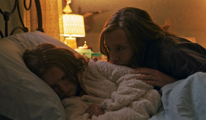 "Milly Shapiro and Toni Collette in ""Hereditary."""