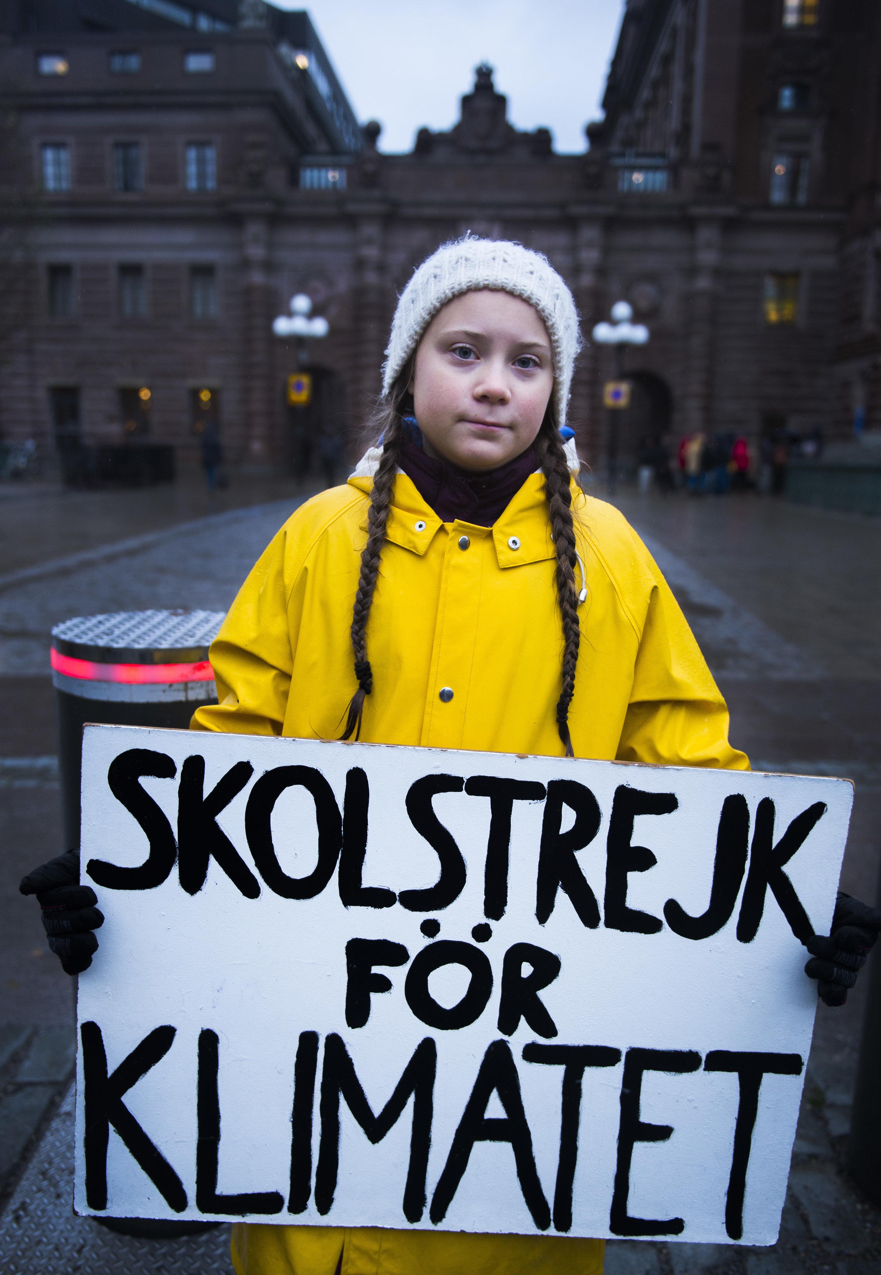 15세 스웨덴 소녀가 190개국 대표들을 '도둑'이라고