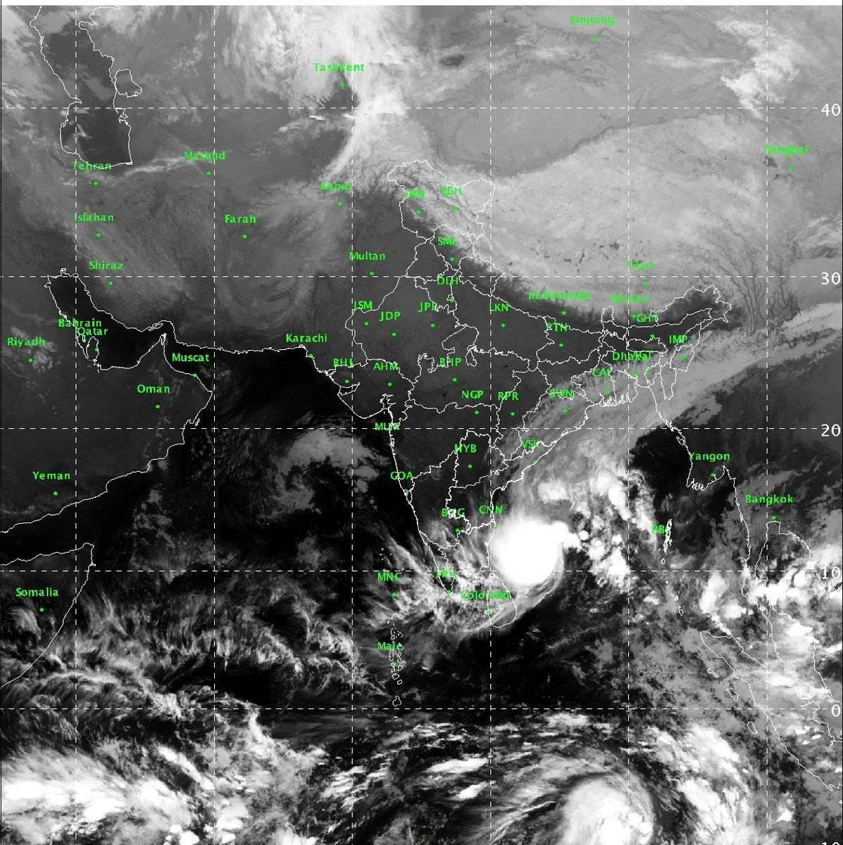 Under the impact of Cyclone Phethai, heavy to very heavy rainfall along the coast of Andhra