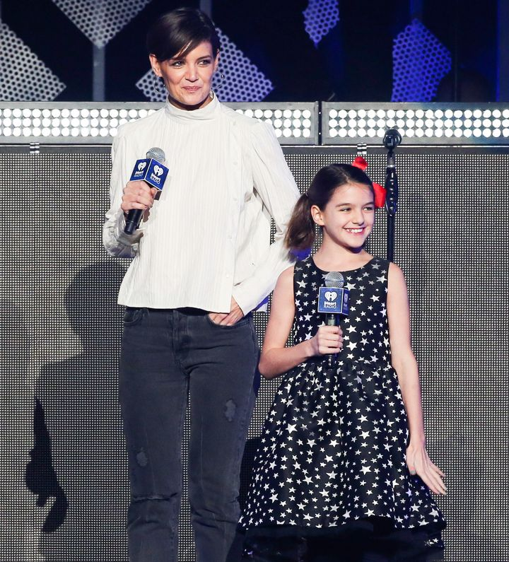 Suri appeared with her mom at the Z100 Jingle Ball at Madison Square Garden on Dec. 8, 2017.