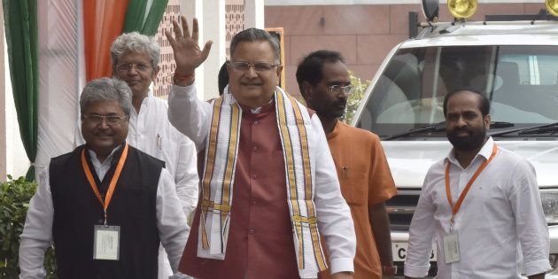 Chief Minister of Chhattisgarh Raman Singh in a file