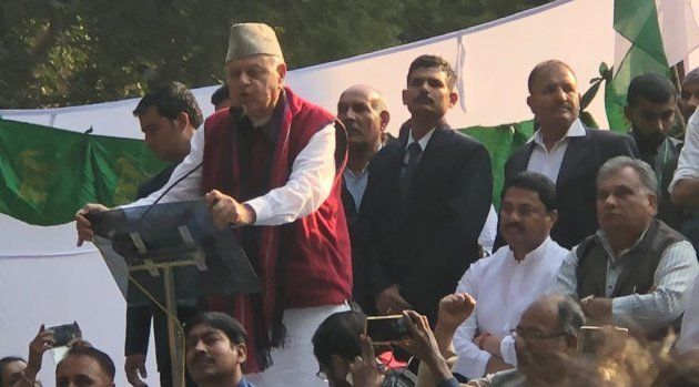 Farooq Abdullah at the farmers'