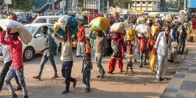 Migrant workers in Gujarat head to their home states this