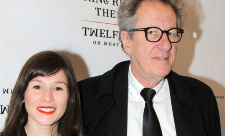 Yael Stone, pictured with Geoffrey Rush in 2013, accused the Oscar-winning actor of inappropriate behavior when the two co-st