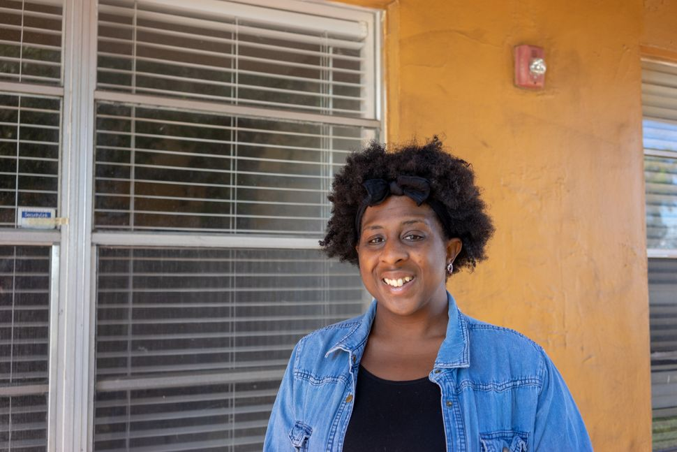Myesha Pugh moved from her apartment in Overtown, Miami, after a cockroach infestation. Her new place is free of bugs, but he