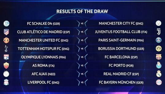 CL: Des chocs Bayern-Liverpool et Real Madrid-Ajax pour les
