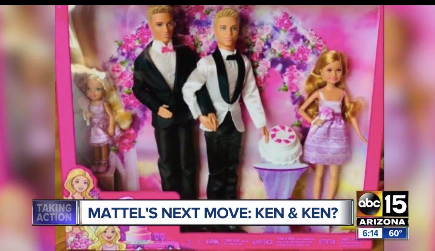 Barbie same-sex wedding set