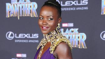 HOLLYWOOD, CA - JANUARY 29:  Lupita Nyong'o attends the Los Angeles Premiere 'Black Panther' at Dolby Theatre on January 29, 2018 in Hollywood, California.  (Photo by Jon Kopaloff/FilmMagic)