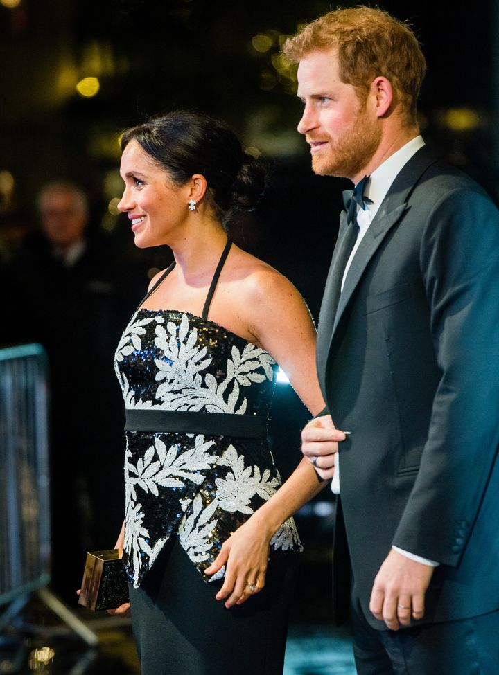 "The Duke and Duchess of Sussex in London on Nov. 19. In a new interview with ""Good Morning Britain,"" her fat"