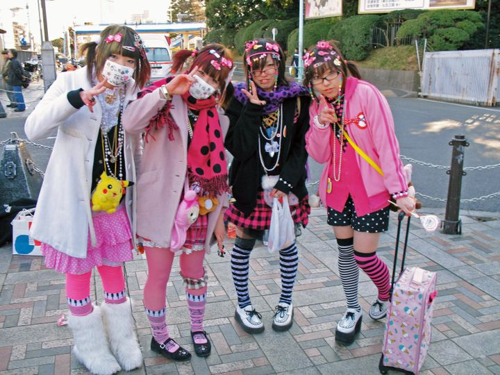 Harajuku fashion remained in style in 2018.