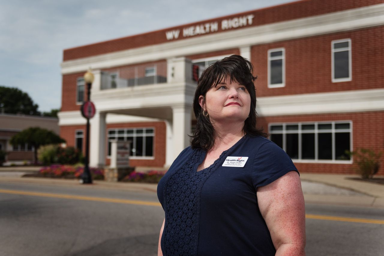 Dr. Angie Settle leads West Virginia Health Right, which has been instrumental in fighting hepatitis A on the ground in Charleston.