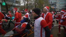 Santas Run For Charity In France