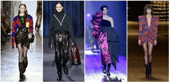 Versace, Givenchy, Marc Jacobs and Saint Laurent (pictured left to right), all showed off 1980s-inspired fashion in recent shows.