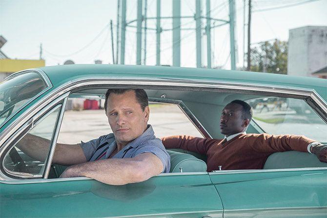 "Tony ""Lip"" Vallelonga. (Viggo Mortensen) and Don Shirley (Mahershala Ali) in ""Green Book."""