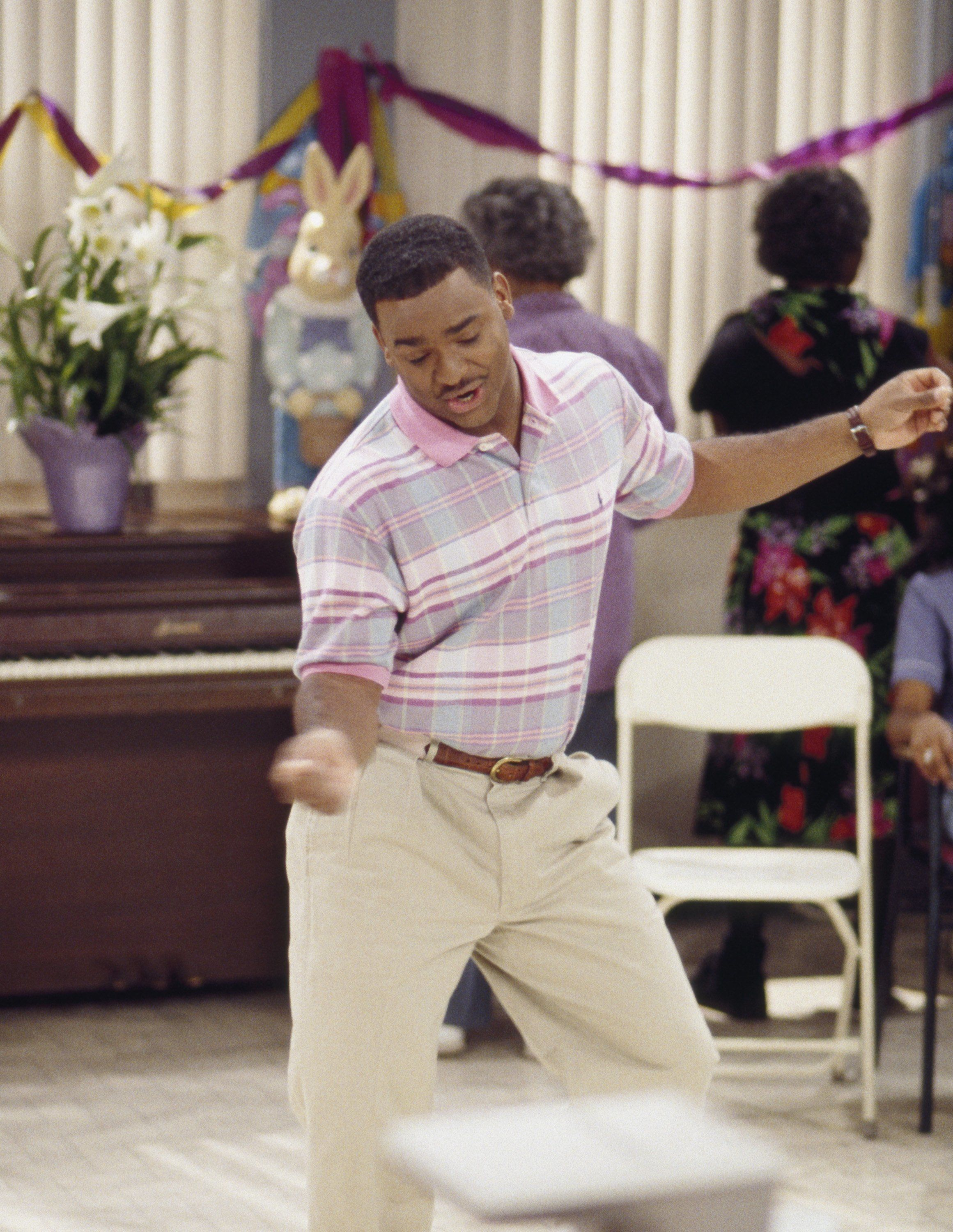 THE FRESH PRINCE OF BEL-AIR -- 'Hare Today' Episode 18 -- Aired 4/8/96 -- Pictured: Alfonso Ribeiro as Carlton Banks -- Photo by: Chris Haston/NBCU Photo Bank