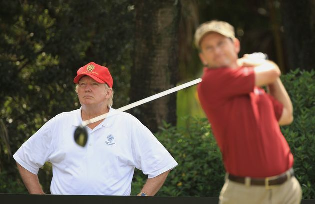 White House Nightmare: Trump Golfs While His Secret Service Agents Work Without