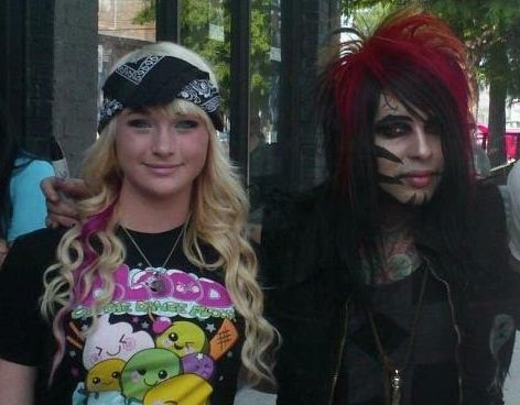 Tye Burns, one of Torres' alleged victims, is pictured with the singer in Arizona in May 2012.