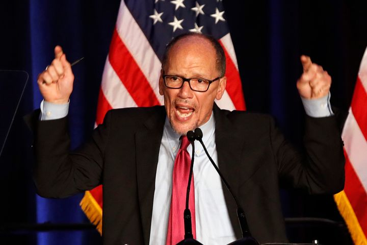 Tom Perez, chairman of the Democratic National Committee, at an election night celebration on Nov. 6 in Washington.