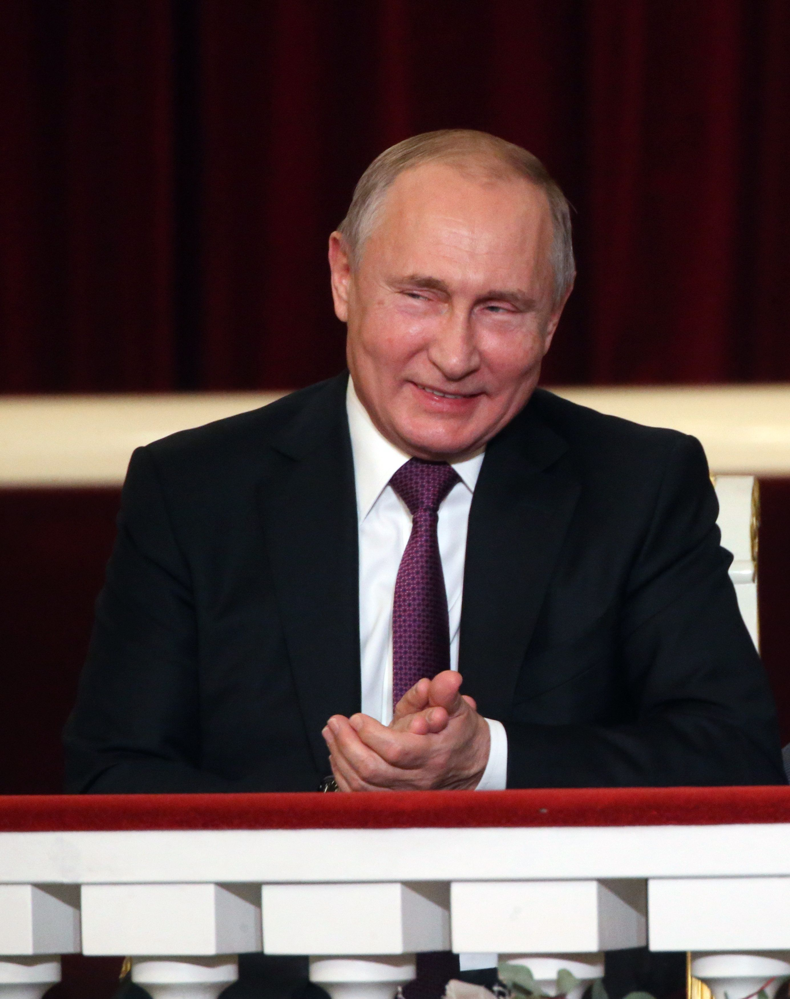 SAINT PETERSBURG, RUSSIA - DECEMBER, 15 (RUSSIA OUT) Russian President Vladimir Putin attends a concert marking the 80th anniversary of  Soviet and Russian conductor Yuri Temirkanov at Saint Petersburg Conservatory in Saint Petersburg, Russia, December, 15, 2018. (Photo by Mikhail Svetlov/Getty Images)