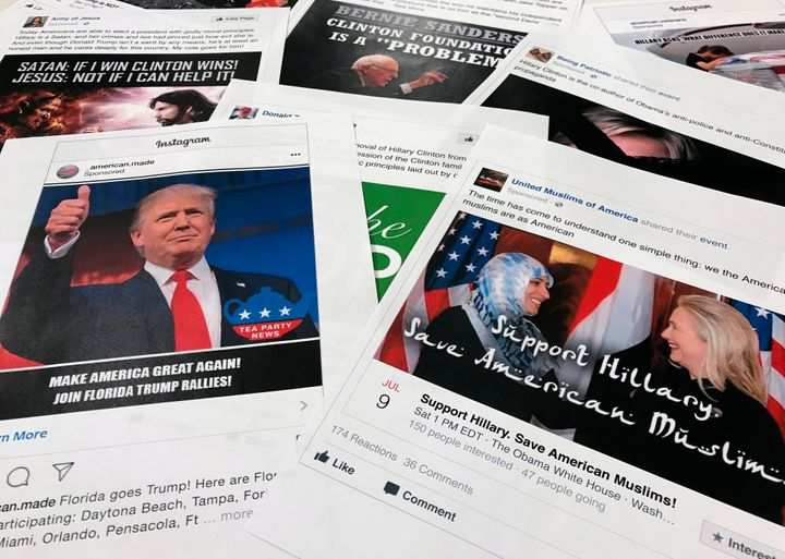 Some of the Facebook and Instagram ads linked to a Russian effort to disrupt the American political process and stir up tensi