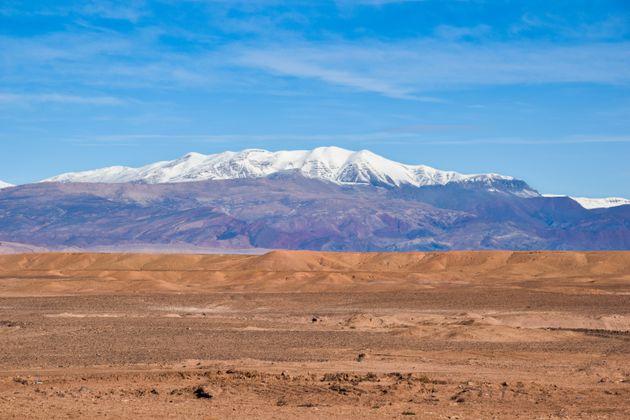 File photo of Morocco's High Atlas mountain range where the bodies of two Scandinavian women were